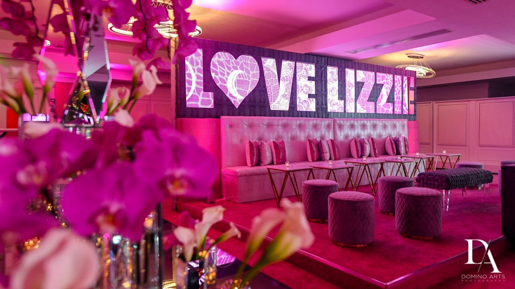 great decor at Luxury Bat Mitzvah featuring ZEDD at St.Andrews Country Club