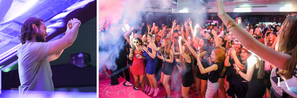 fun party pics at Luxury Bat Mitzvah featuring ZEDD at St.Andrews Country Club