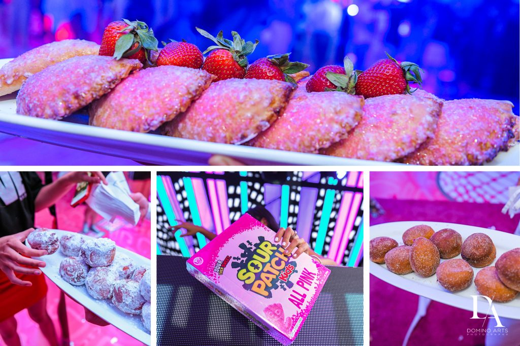 candy table at Luxury Bat Mitzvah featuring ZEDD at St.Andrews Country Club