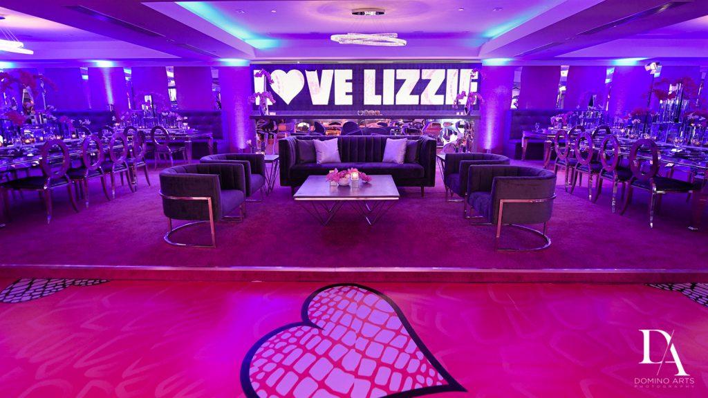 custom dancefloor at Luxury Bat Mitzvah featuring ZEDD at St.Andrews Country Club