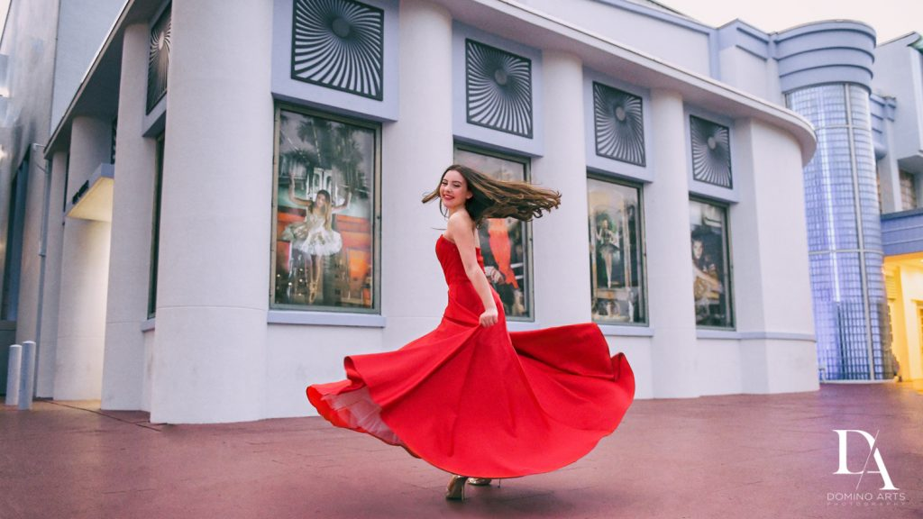 portrait at The Greatest Showman theme Bat Mitzvah at the filmore miami by Domino Arts Photography