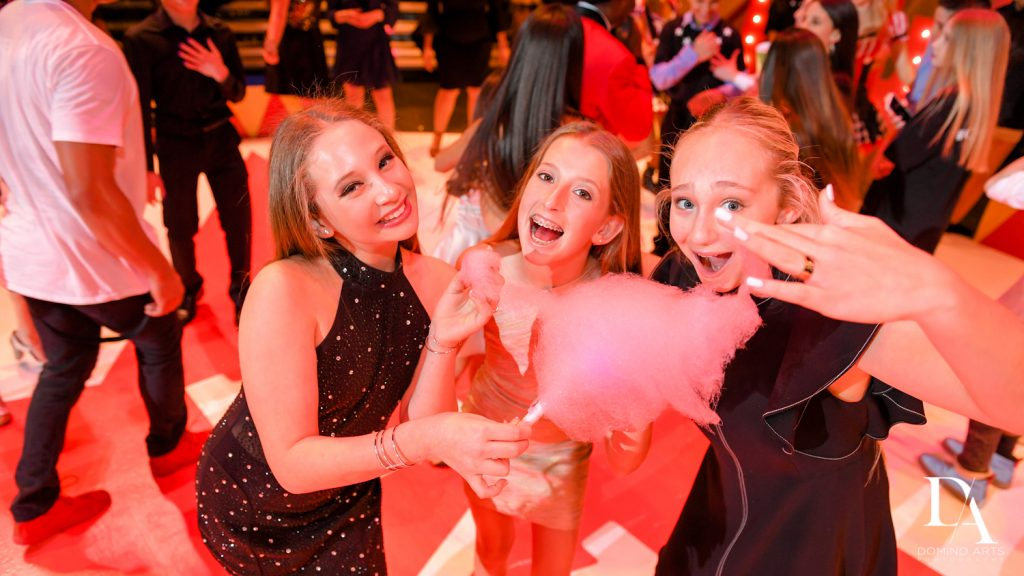 cotton candy at The Greatest Showman theme Bat Mitzvah at the filmore miami by Domino Arts Photography