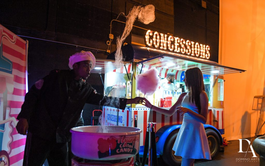 concession stand at The Greatest Showman theme Bat Mitzvah at the filmore miami by Domino Arts Photography