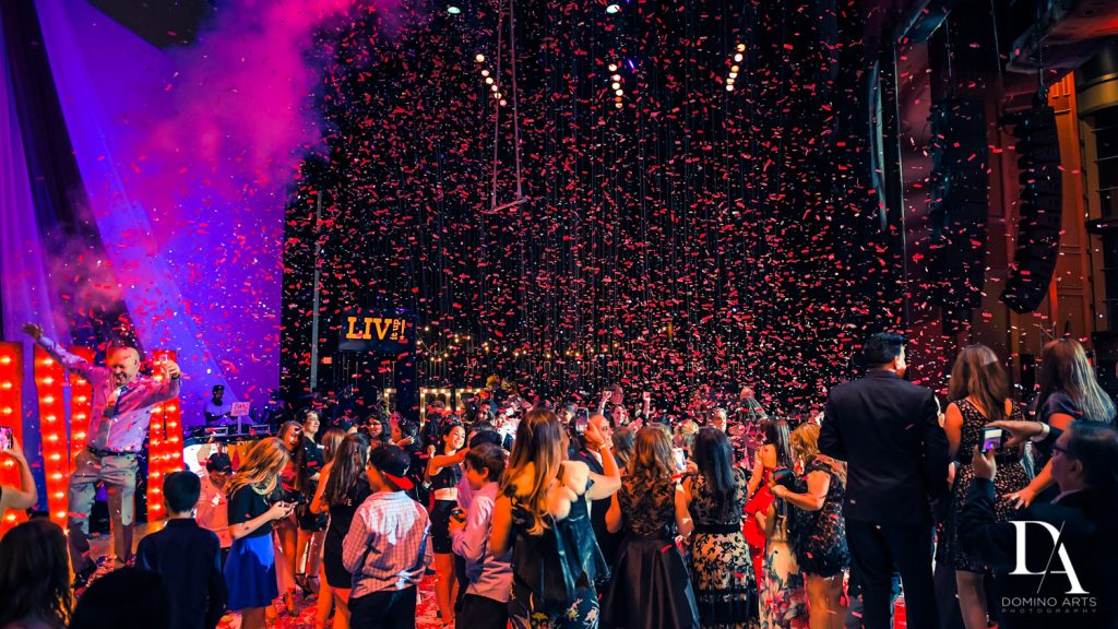 party pictures at The Greatest Showman theme Bat Mitzvah at the filmore miami by Domino Arts Photography