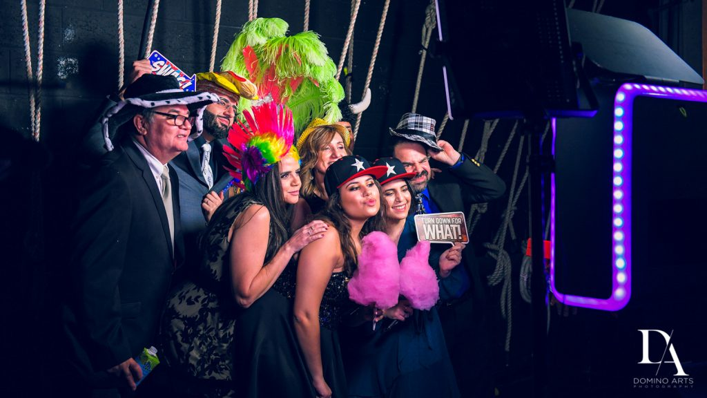 photo booth at The Greatest Showman theme Bat Mitzvah at the filmore miami by Domino Arts Photography