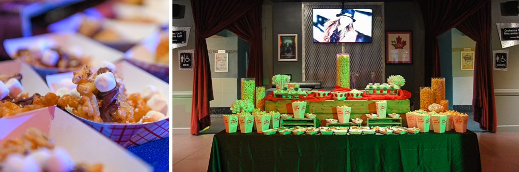catering at The Greatest Showman theme Bat Mitzvah at the filmore miami by Domino Arts Photography