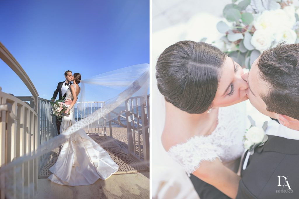 romantic portraits at Romantic Ocean Side Wedding at Eau Palm Beach by Domino Arts Photography