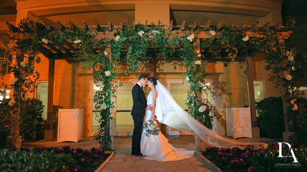 chuppah at Romantic Ocean Side Wedding at Eau Palm Beach by Domino Arts Photography