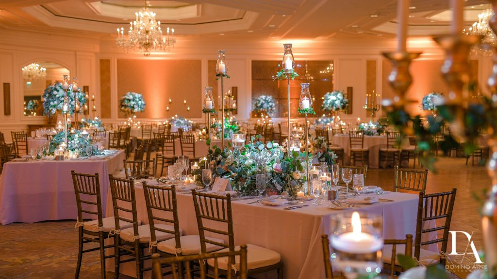 beautiful decor at Romantic Ocean Side Wedding at Eau Palm Beach by Domino Arts Photography