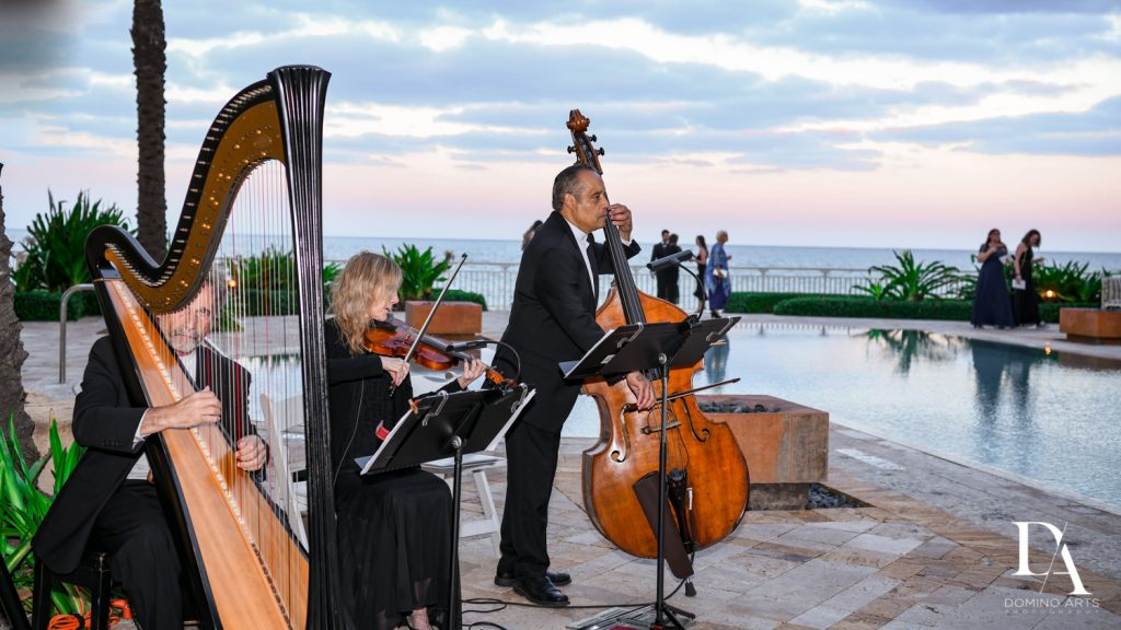 musicians at Romantic Ocean Side Wedding at Eau Palm Beach by Domino Arts Photography