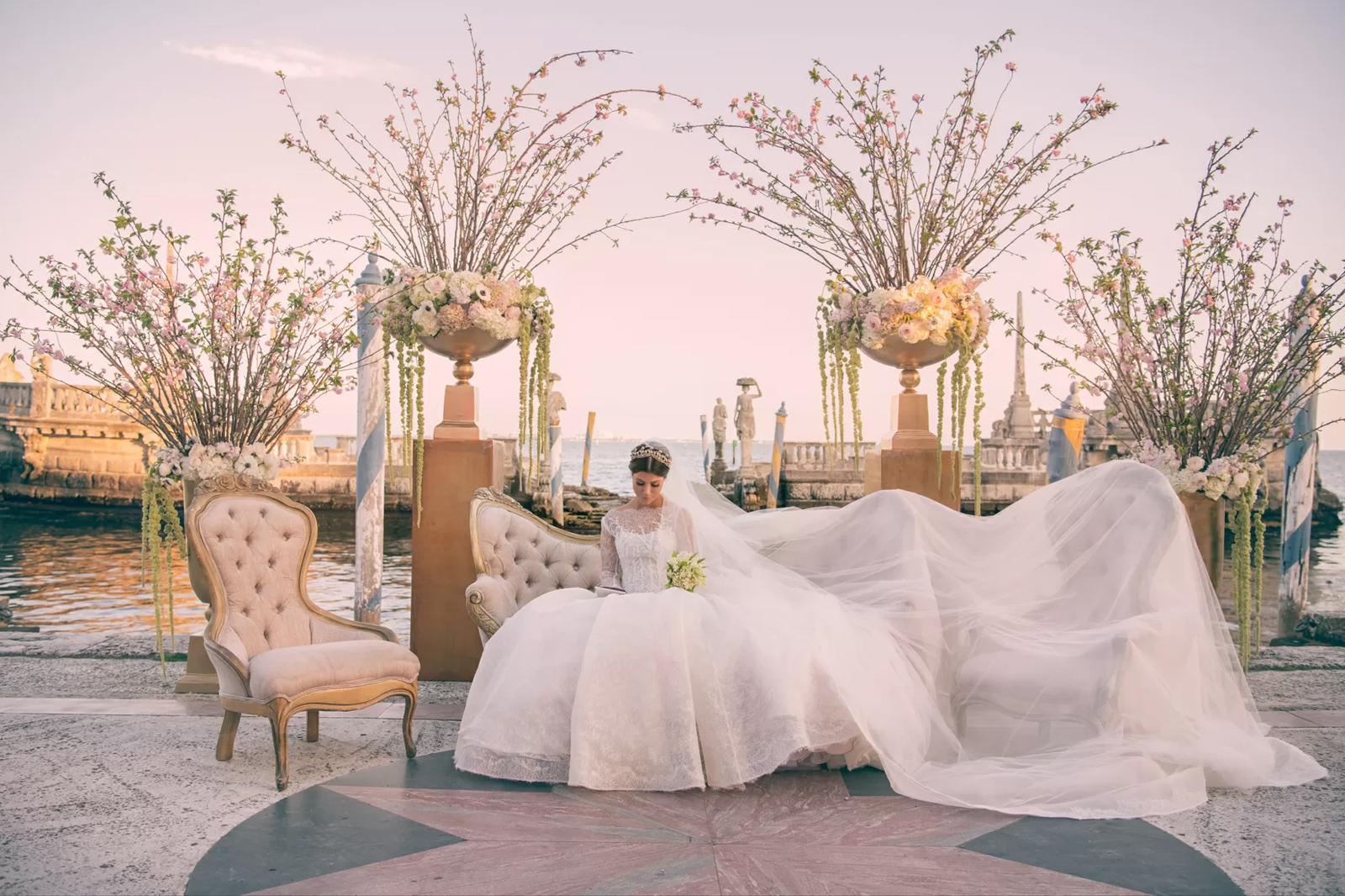 Haute Couture Wedding at Vizcaya Museum & Gardens Miami by Domino Arts Photography