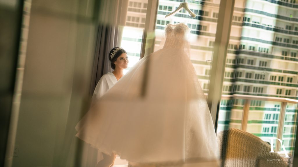 bridal gown at Haute Couture Dream Wedding at Vizcaya Museum & Gardens by Domino Arts Photography