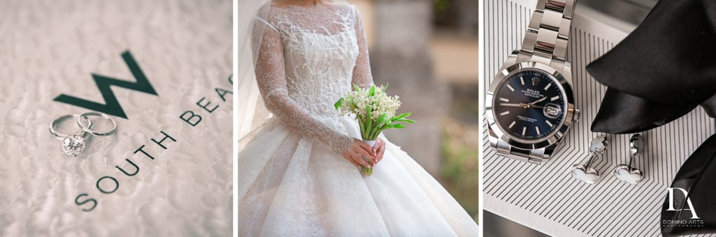 wedding details at Haute Couture Dream Wedding at Vizcaya Museum & Gardens by Domino Arts Photography