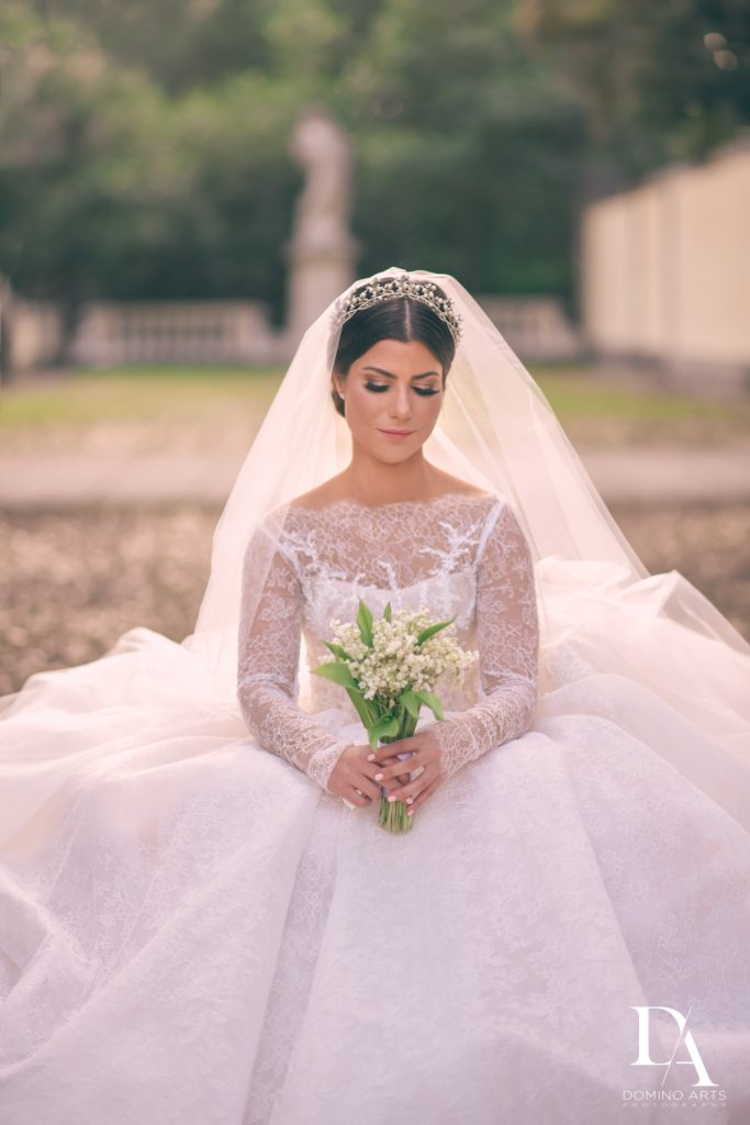 perfect bride at Haute Couture Dream Wedding at Vizcaya Museum & Gardens by Domino Arts Photography