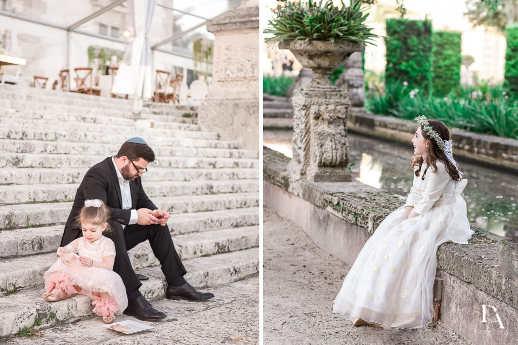 kids at wedding at Haute Couture Dream Wedding at Vizcaya Museum & Gardens by Domino Arts Photography