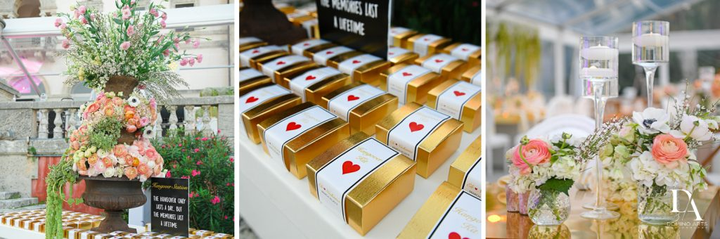 party favors at Haute Couture Dream Wedding at Vizcaya Museum & Gardens by Domino Arts Photography
