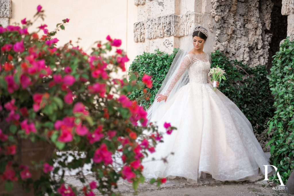 karen sabag dress at Haute Couture Dream Wedding at Vizcaya Museum & Gardens by Domino Arts Photography