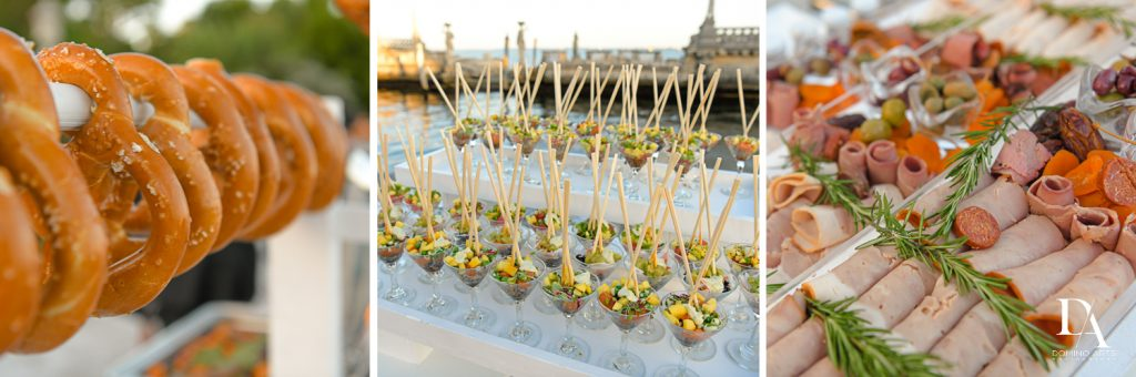 catering at Haute Couture Dream Wedding at Vizcaya Museum & Gardens by Domino Arts Photography