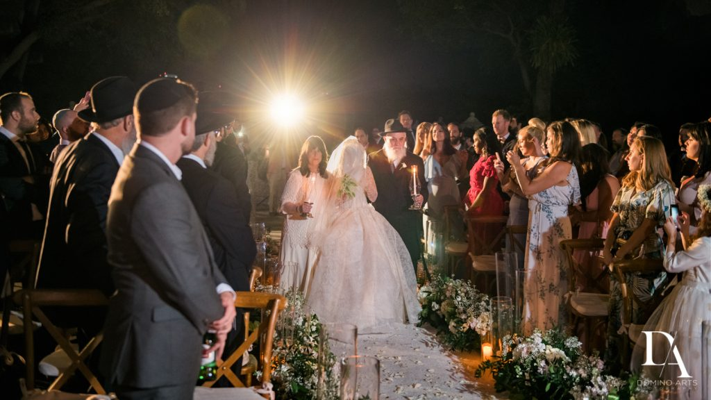 ceremony at Haute Couture Dream Wedding at Vizcaya Museum & Gardens by Domino Arts Photography