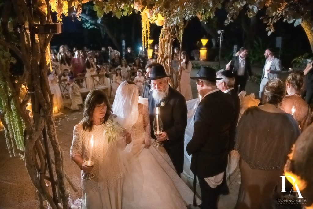 jewish tradition at Haute Couture Dream Wedding at Vizcaya Museum & Gardens by Domino Arts Photography