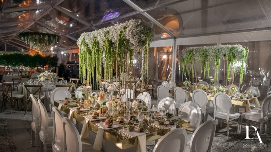 best luxury decor at Haute Couture Dream Wedding at Vizcaya Museum & Gardens by Domino Arts Photography