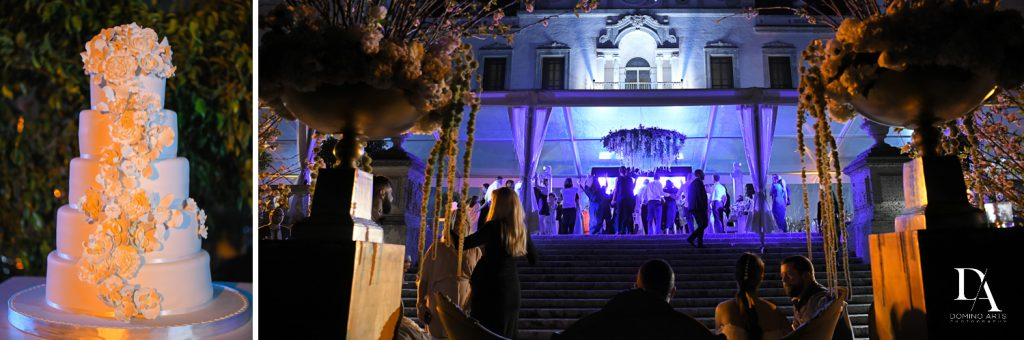 live band at Haute Couture Dream Wedding at Vizcaya Museum & Gardens by Domino Arts Photography
