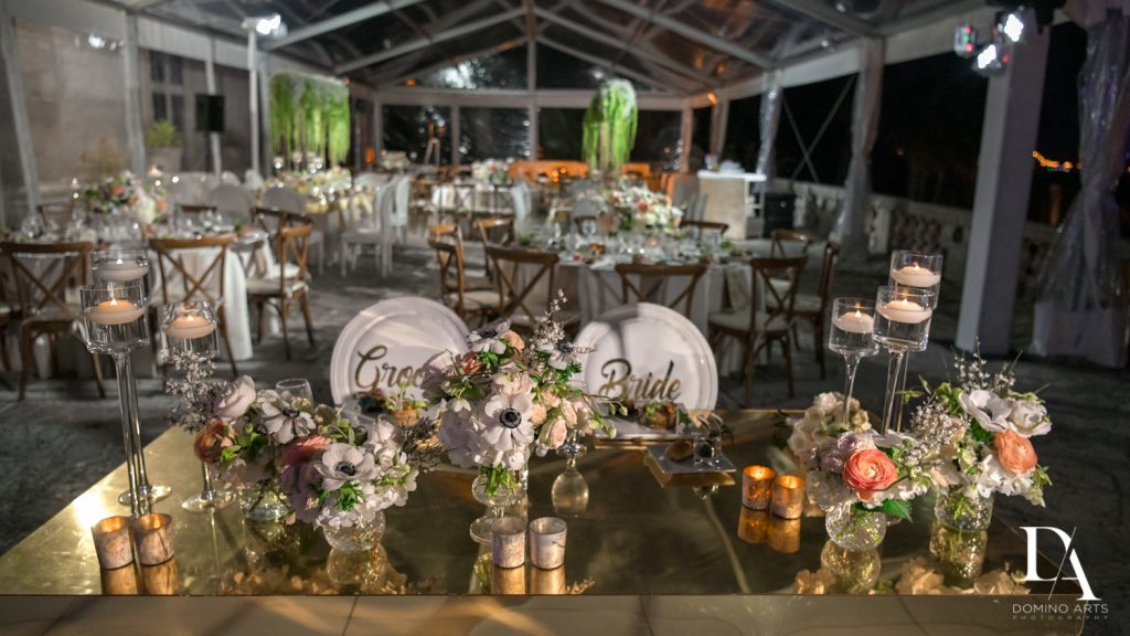 decor at Haute Couture Dream Wedding at Vizcaya Museum & Gardens by Domino Arts Photography