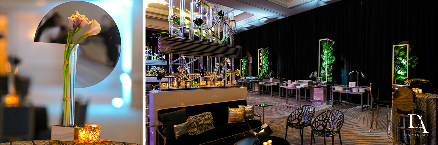 best decor at Designer invitations at Stylish Architectural B'Nai Mitzvah at the NEW JW Marriott Miami Turnberry Resort & Spa by Domino Arts Photography