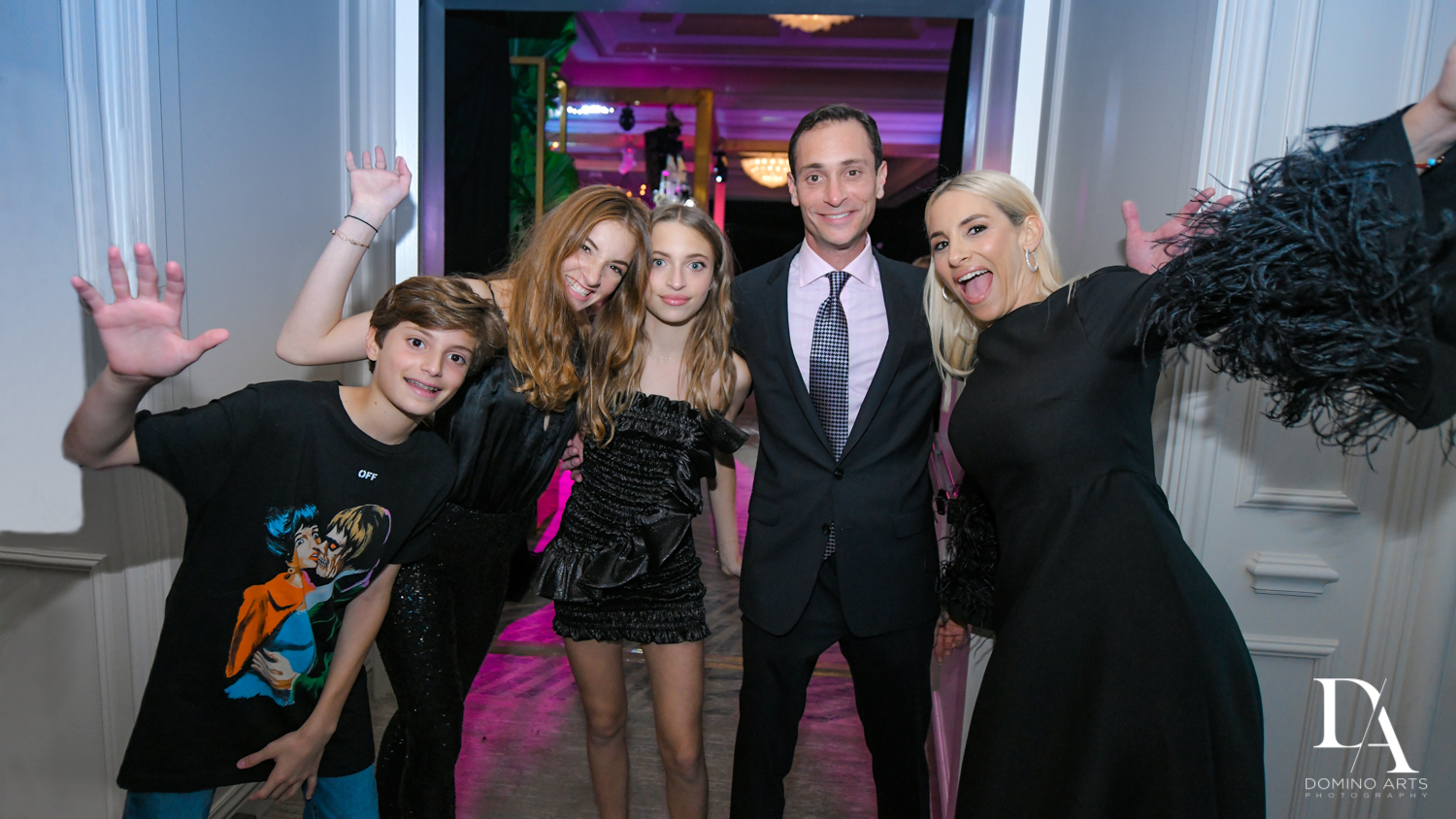 fun family photos at Designer invitations at Stylish Architectural B'Nai Mitzvah at the NEW JW Marriott Miami Turnberry Resort & Spa by Domino Arts Photography