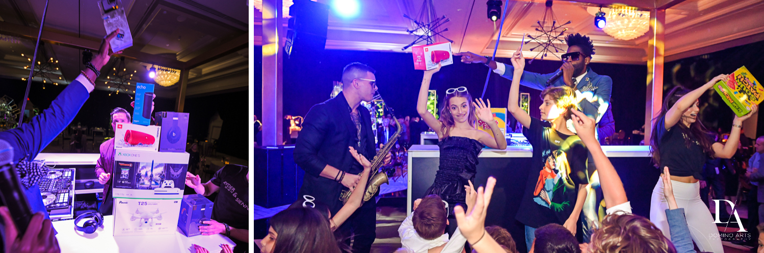 best entertainment at Designer invitations at Stylish Architectural B'Nai Mitzvah at the NEW JW Marriott Miami Turnberry Resort & Spa by Domino Arts Photography