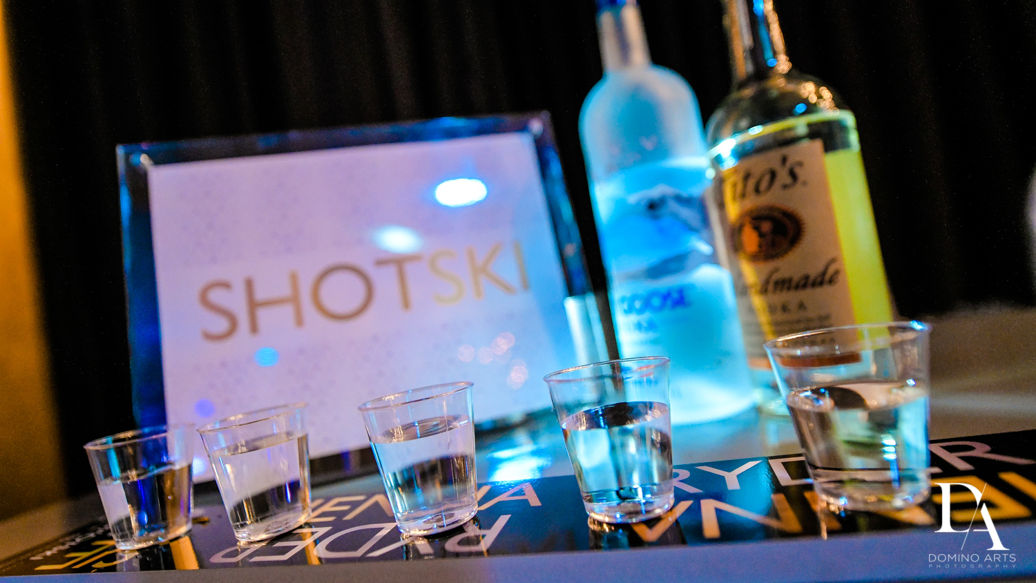 shotski at Designer invitations at Stylish Architectural B'Nai Mitzvah at the NEW JW Marriott Miami Turnberry Resort & Spa by Domino Arts Photography