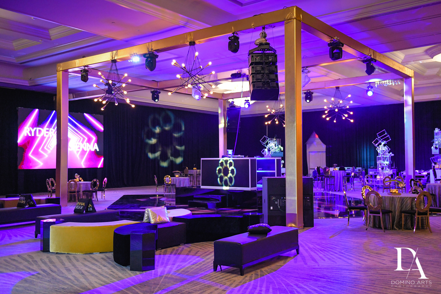 jose graterol designs at Designer invitations at Stylish Architectural B'Nai Mitzvah at the NEW JW Marriott Miami Turnberry Resort & Spa by Domino Arts Photography