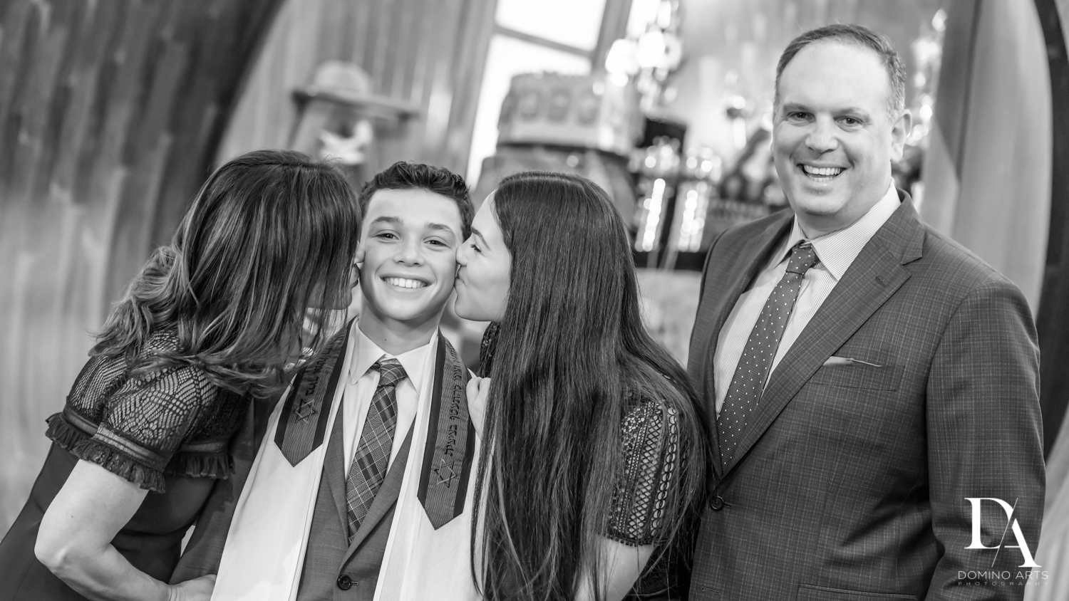 B&W pictures at Football Theme Bar Mitzvah at Temple Beth El and Royal Palm Yacht Club by Domino Arts Photography