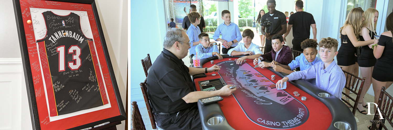 kids activities at Football Theme Bar Mitzvah at Temple Beth El and Royal Palm Yacht Club by Domino Arts Photography