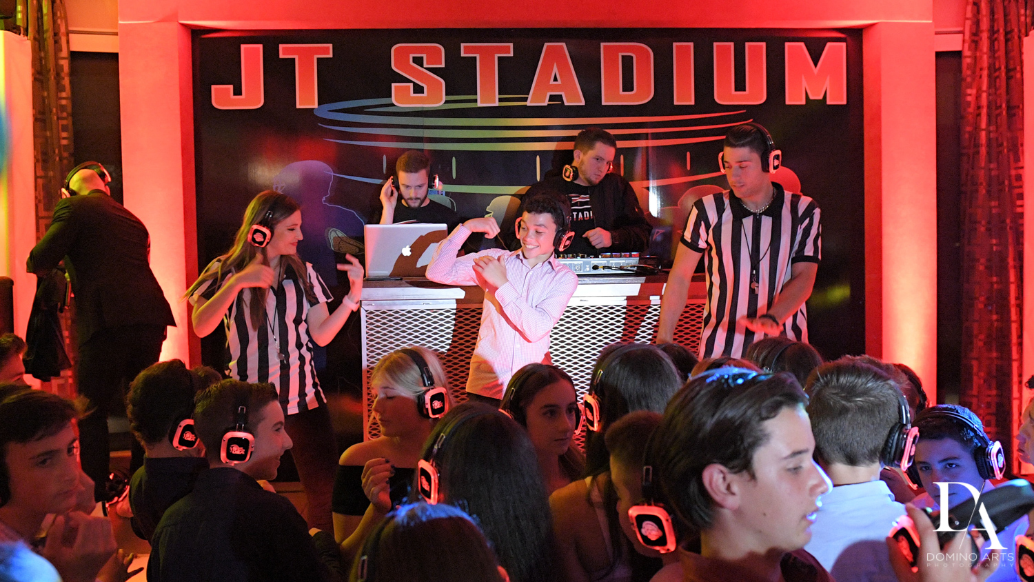 football party at Football Theme Bar Mitzvah at Temple Beth El and Royal Palm Yacht Club by Domino Arts Photography
