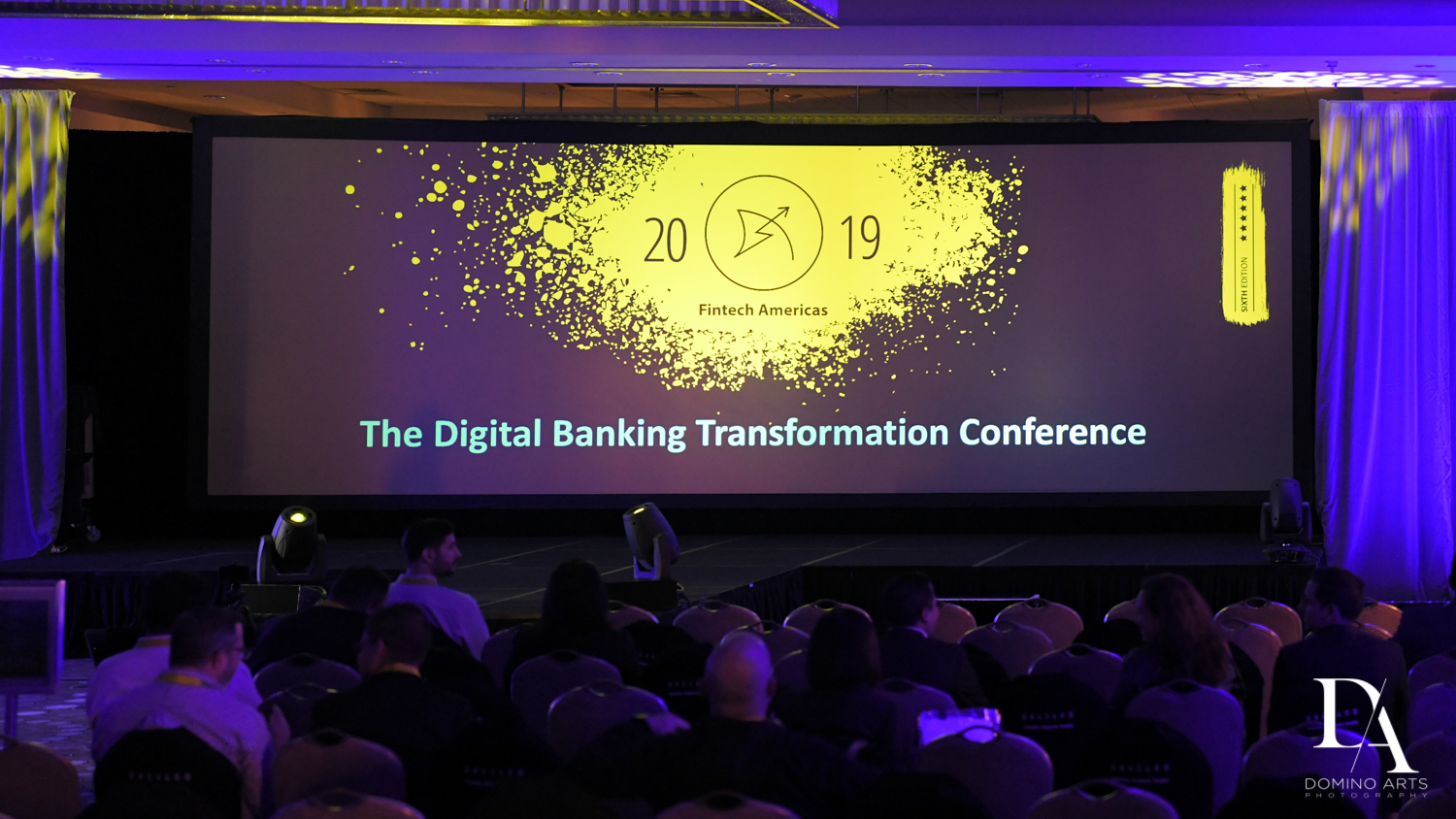 stage at Fintech Americas Banking Conference Miami by Domino Arts Photography