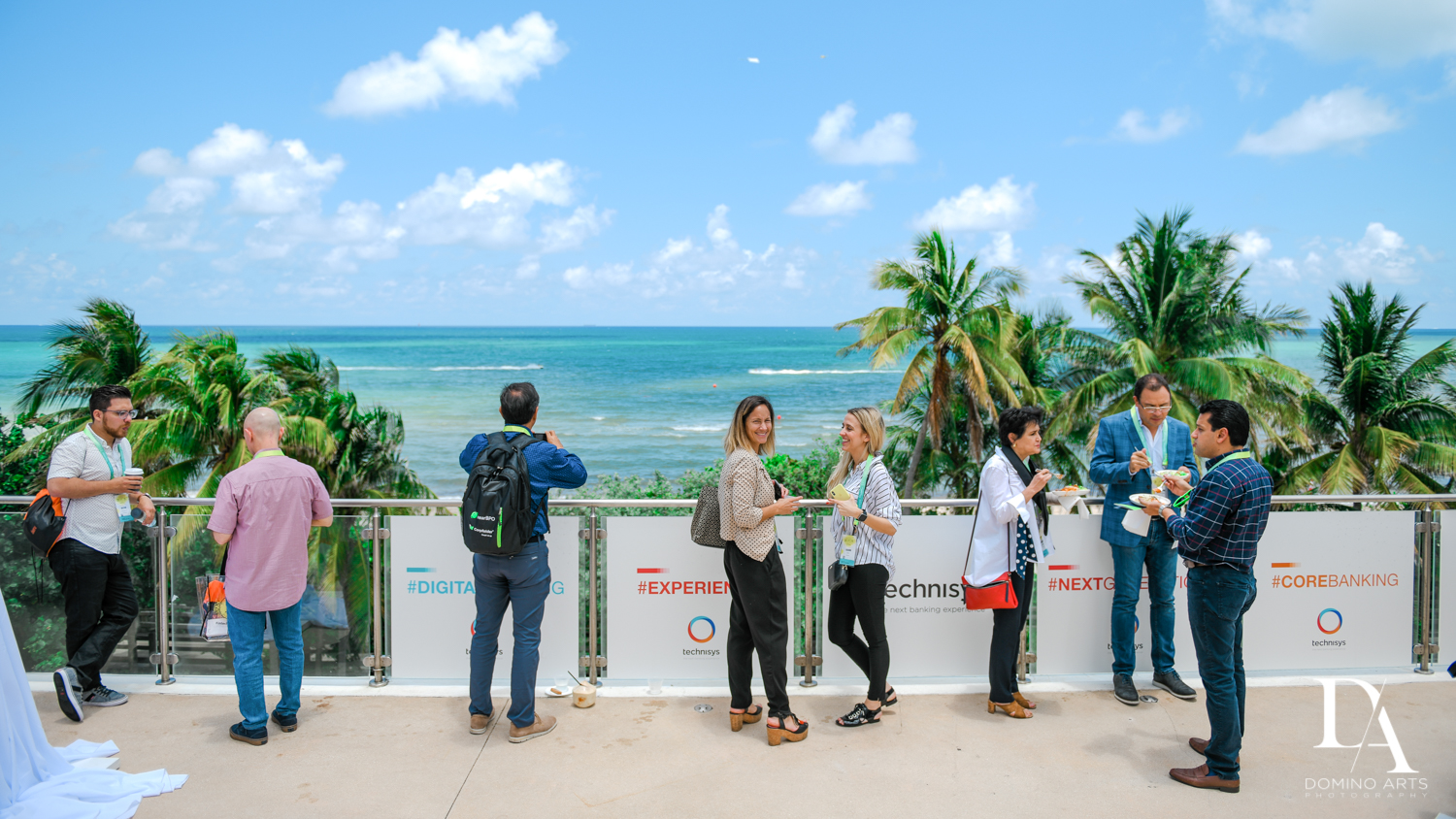 beautiful Florida weather at Fintech Americas Banking Conference Miami by Domino Arts Photography