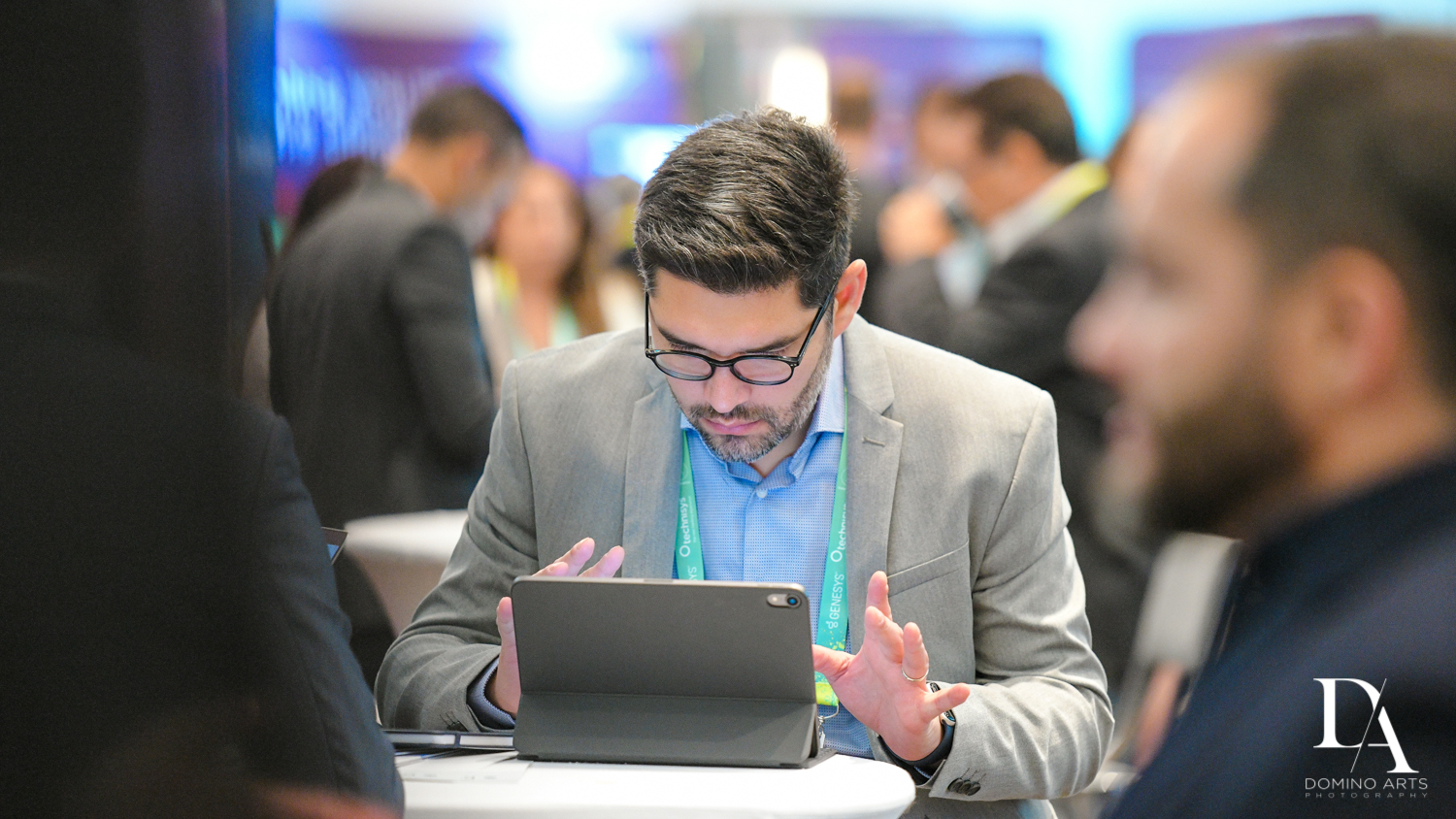 laptops at Fintech Americas Banking Conference Miami by Domino Arts Photography
