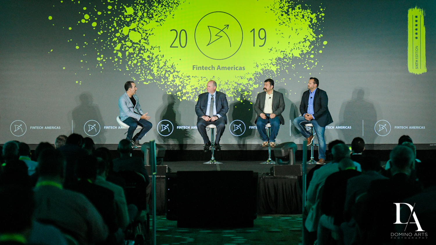 speaker panel at Fintech Americas Banking Conference Miami by Domino Arts Photography