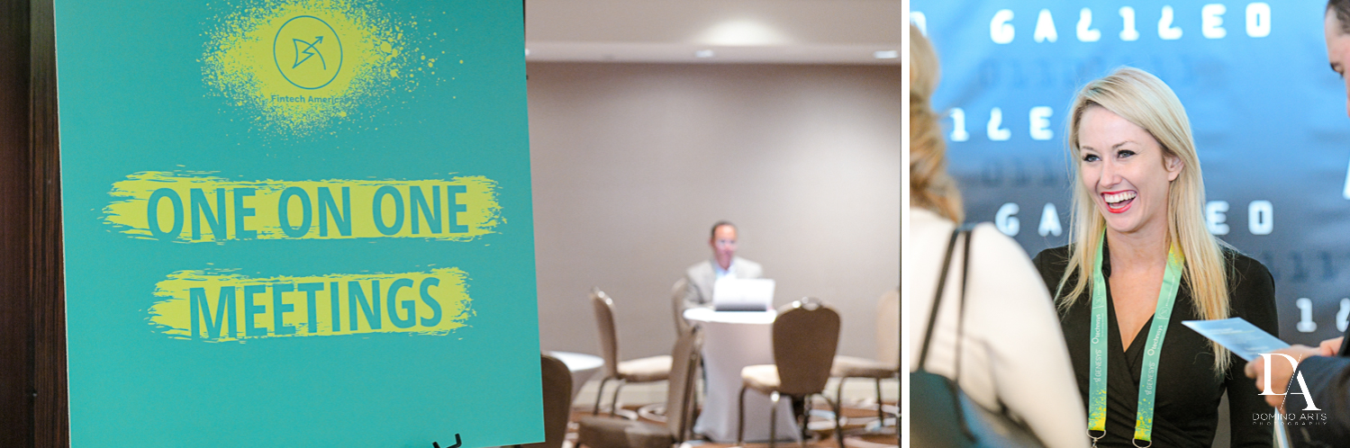 meeting rooms at Fintech Americas Banking Conference Miami by Domino Arts Photography