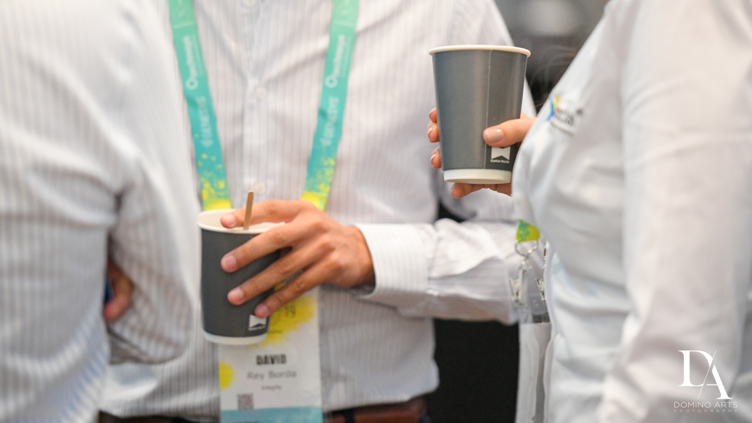 free coffee at Fintech Americas Banking Conference Miami by Domino Arts Photography