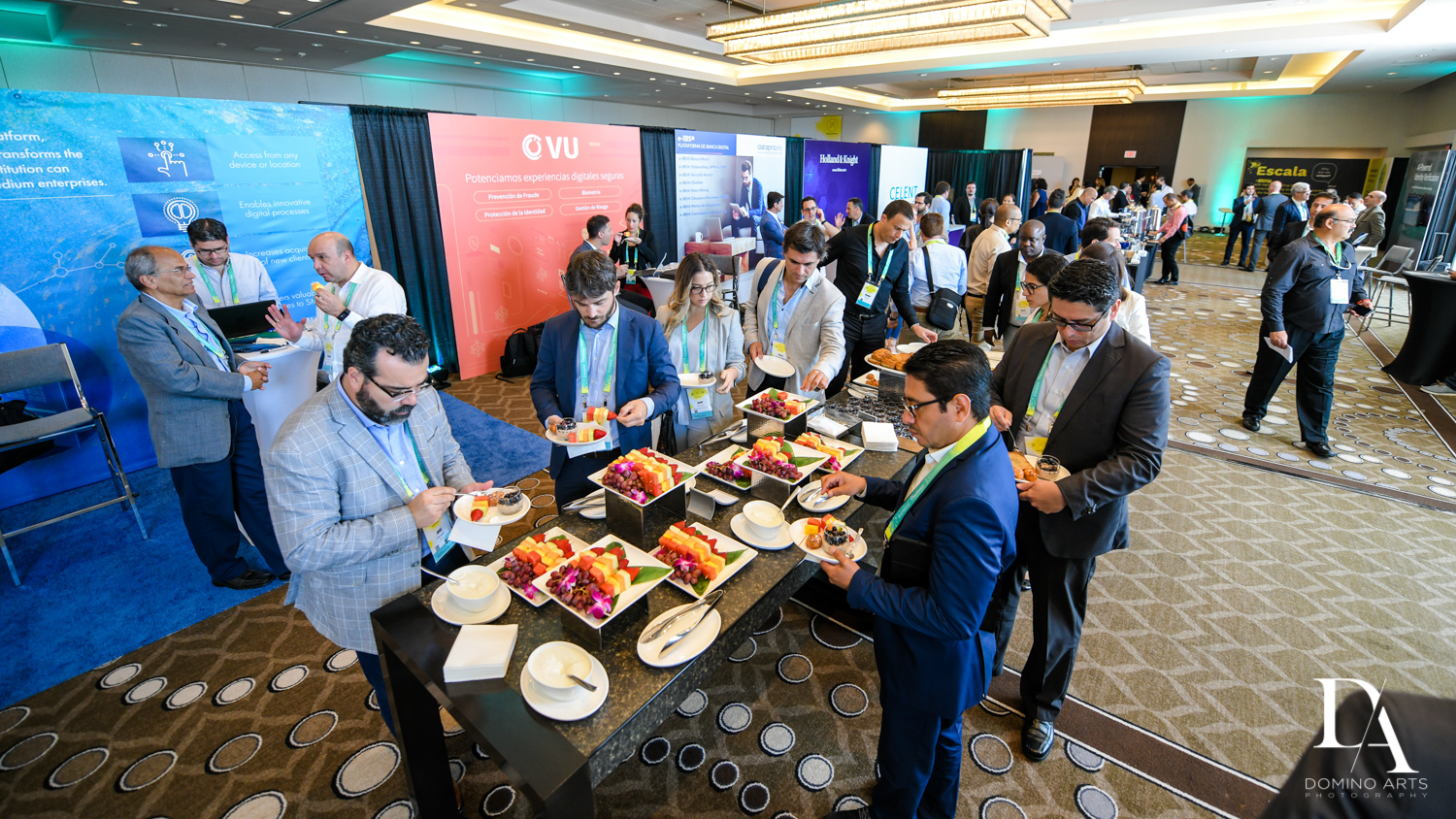 best catering at Fintech Americas Banking Conference Miami by Domino Arts Photography