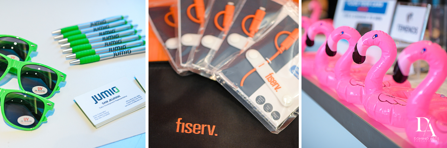 name tags and gifts at Fintech Americas Banking Conference Miami by Domino Arts Photography