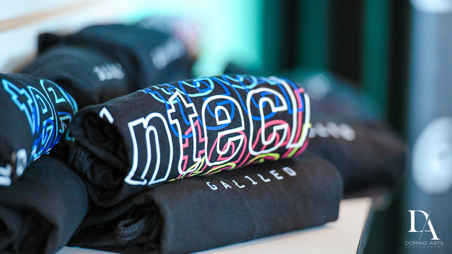 tshirts and souvenirs at Fintech Americas Banking Conference Miami by Domino Arts Photography