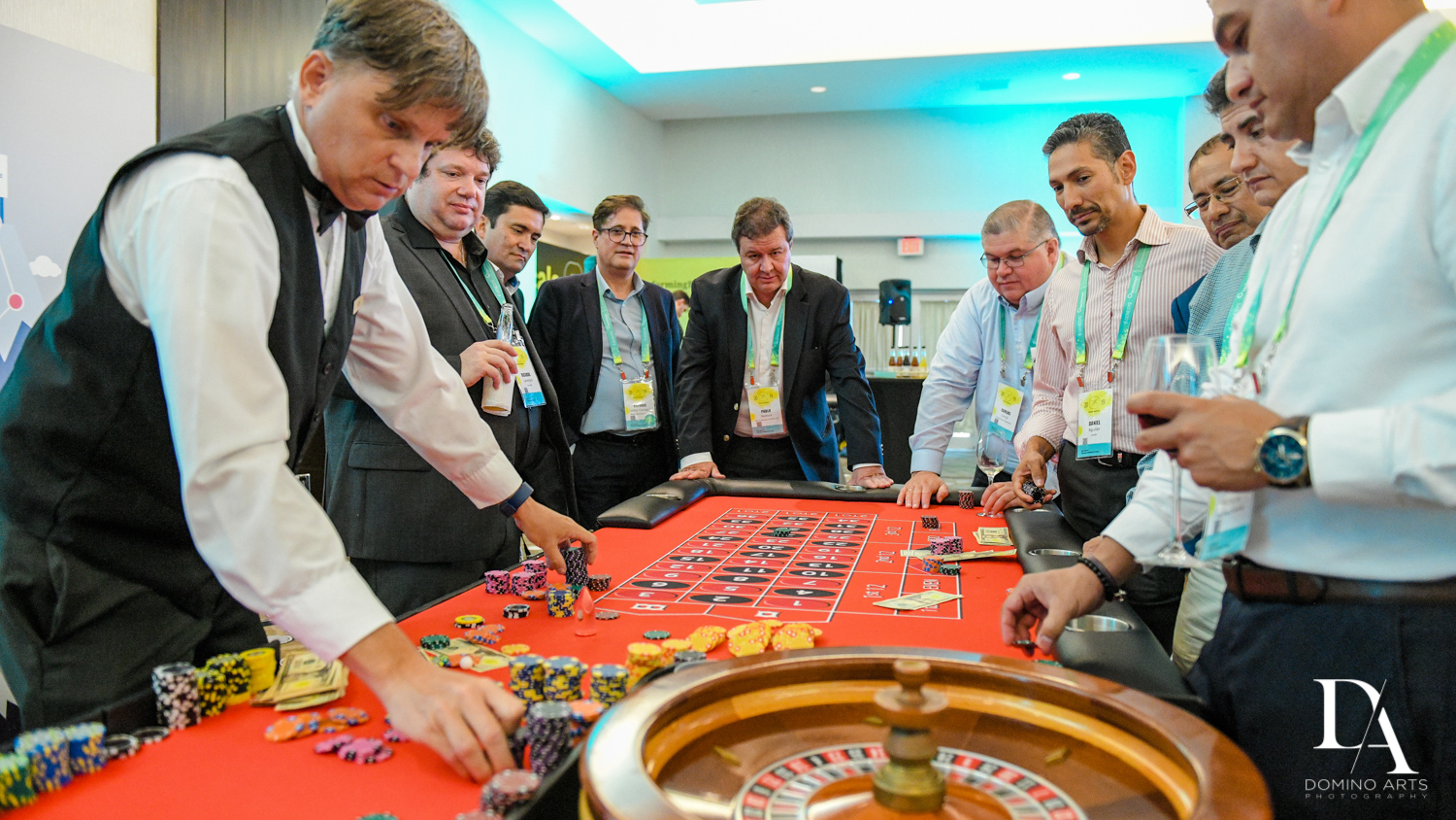 adult activities at Fintech Americas Banking Conference Miami by Domino Arts Photography