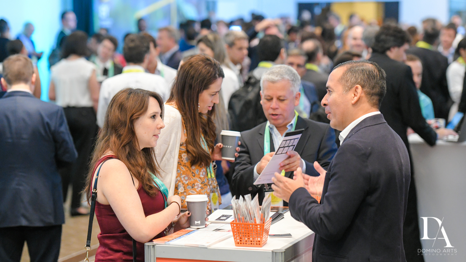 socializing at Fintech Americas Banking Conference Miami by Domino Arts Photography