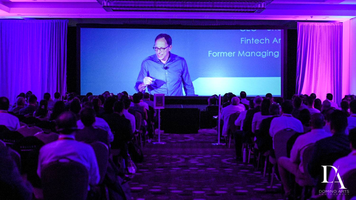 keynote speaker at Fintech Americas Banking Conference Miami by Domino Arts Photography