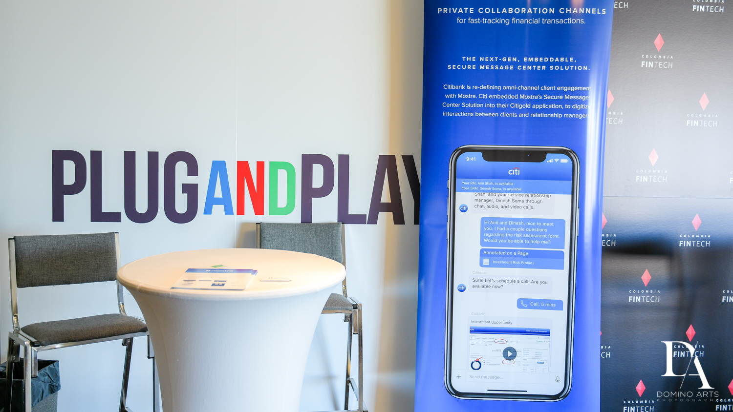 booth at Fintech Americas Banking Conference Miami by Domino Arts Photography