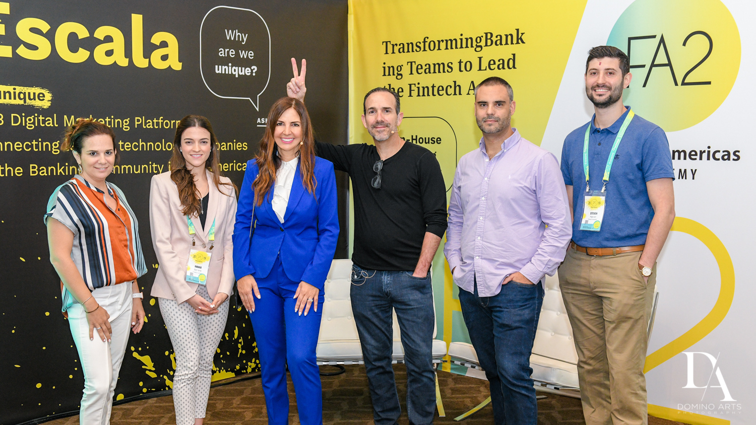 fun portraits at Fintech Americas Banking Conference Miami by Domino Arts Photography