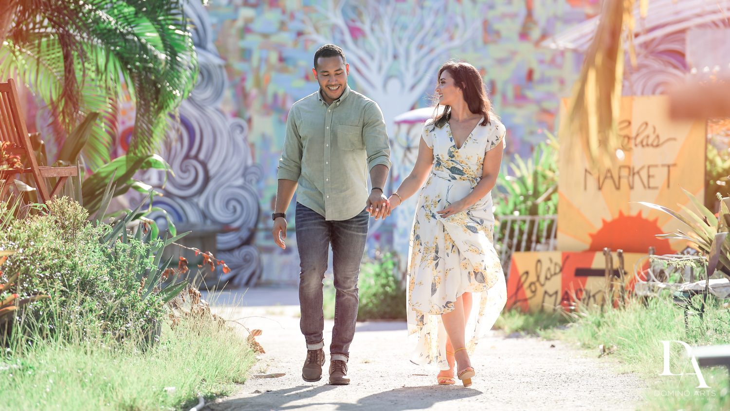 Fort Lauderdale Romantic Engagement Session at Graffiti Walls by Domino Arts Photography